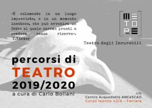 Percorsi di teatro 2019 2020