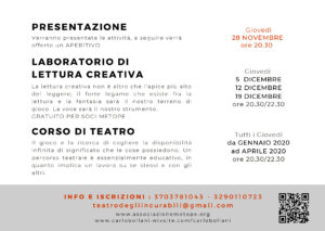 Presentazione attività teatro - Carlo Bollani